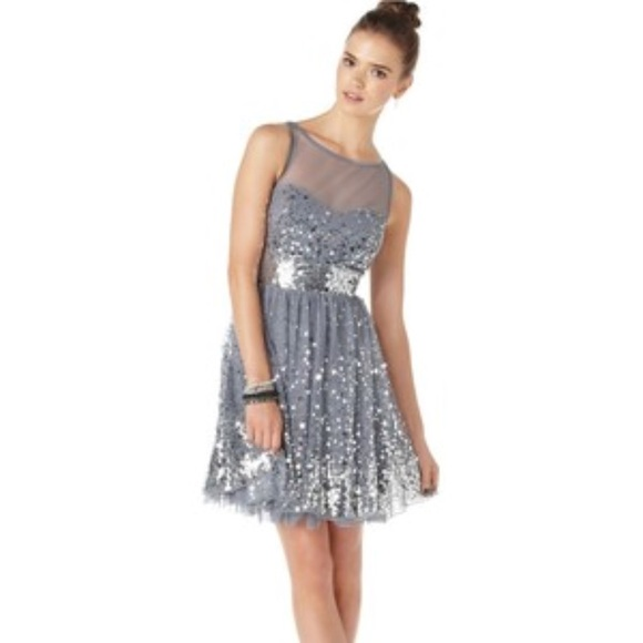 f74e9598c1626 NWT Plus Size 24 Sequin Party Dress in Silver
